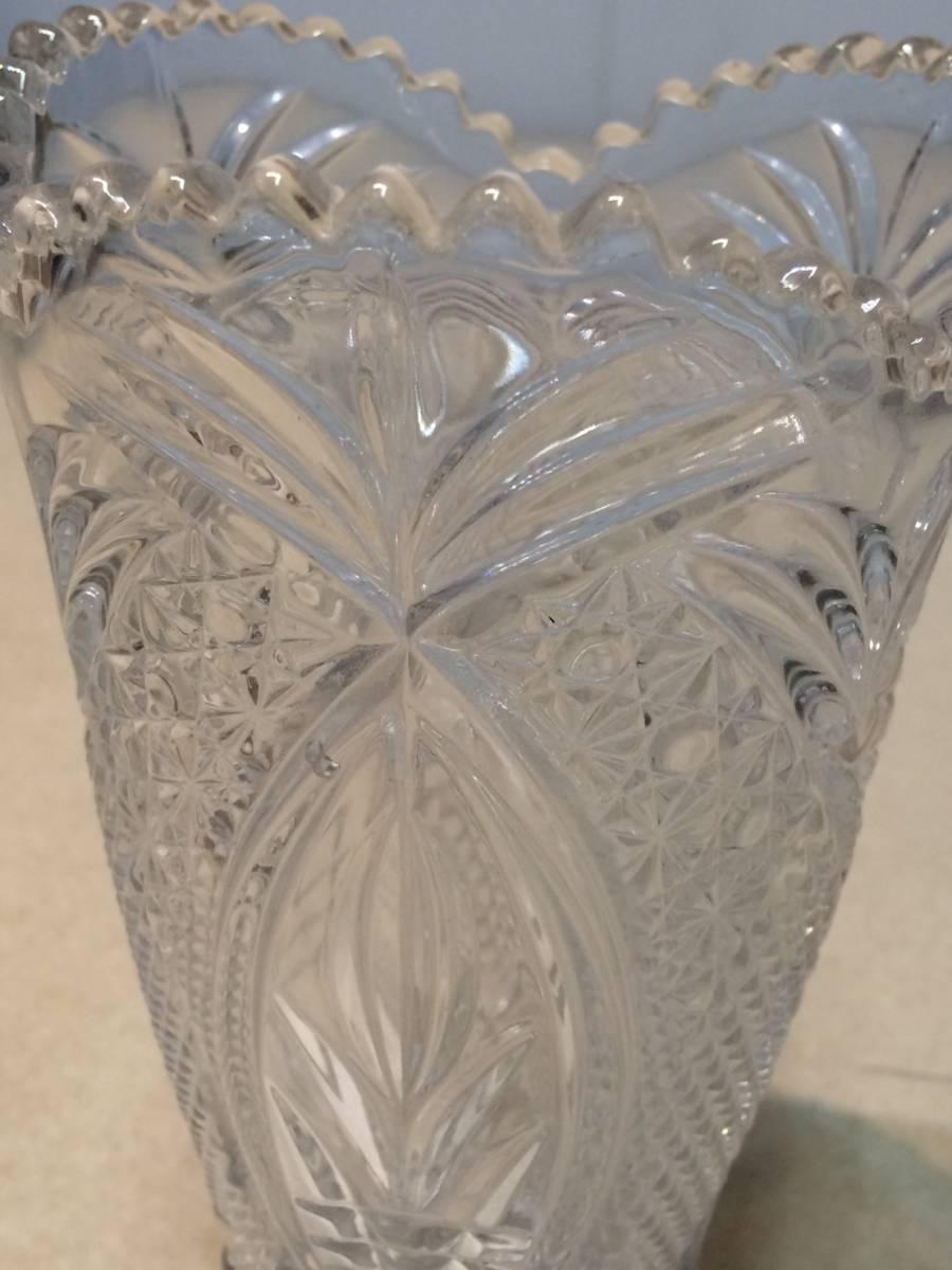 ●未使用 クリスタルガラス 花瓶 花器 フラワーベース 箱 管理:04_画像6