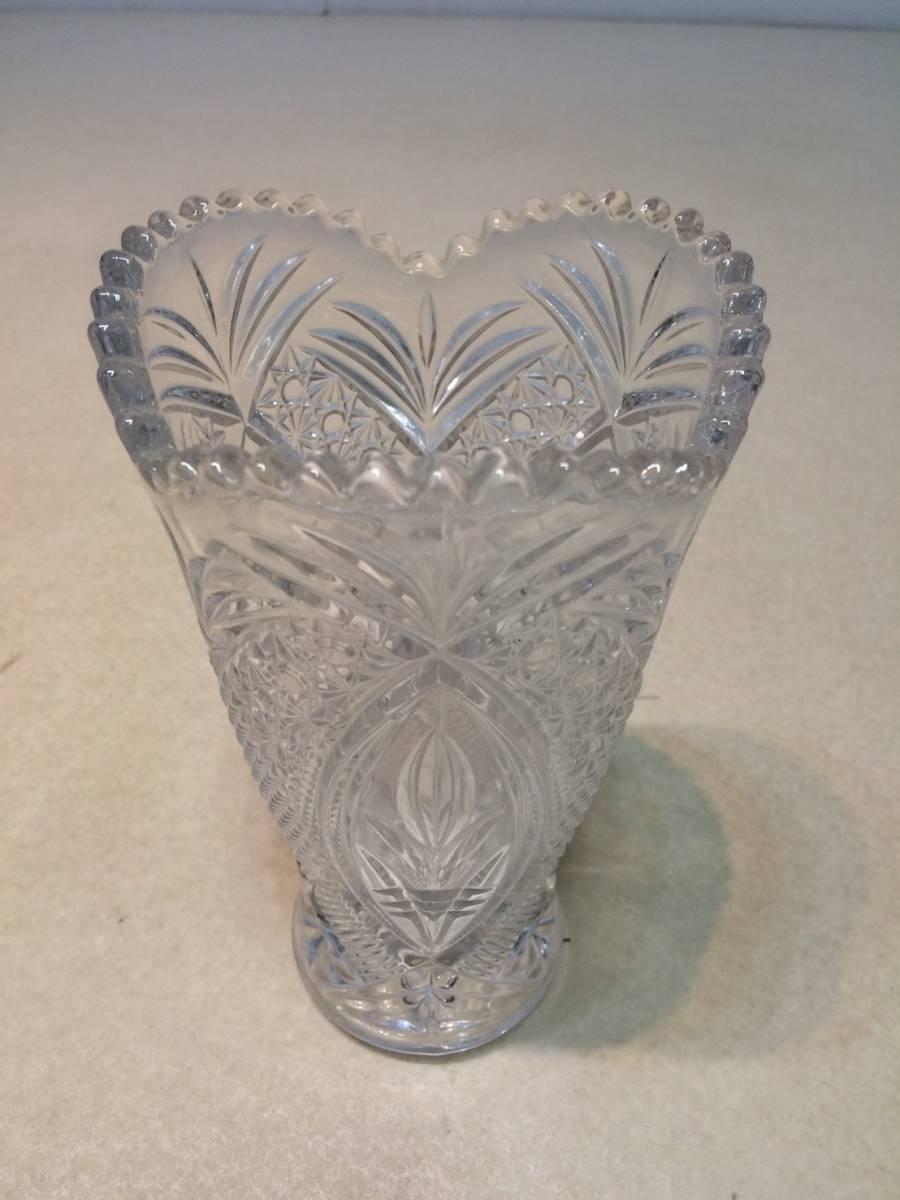 ●未使用 クリスタルガラス 花瓶 花器 フラワーベース 箱 管理:04_画像3