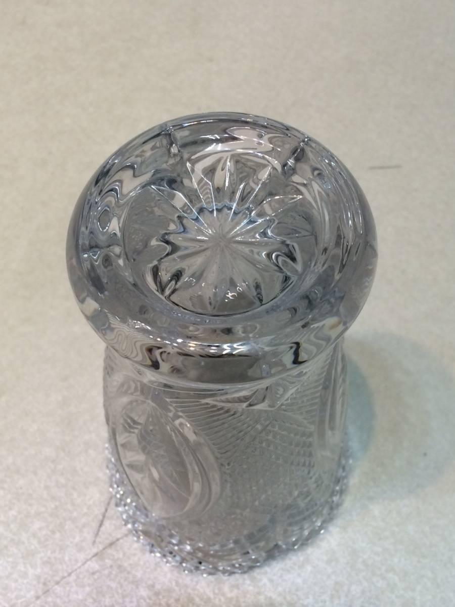●未使用 クリスタルガラス 花瓶 花器 フラワーベース 箱 管理:04_画像7