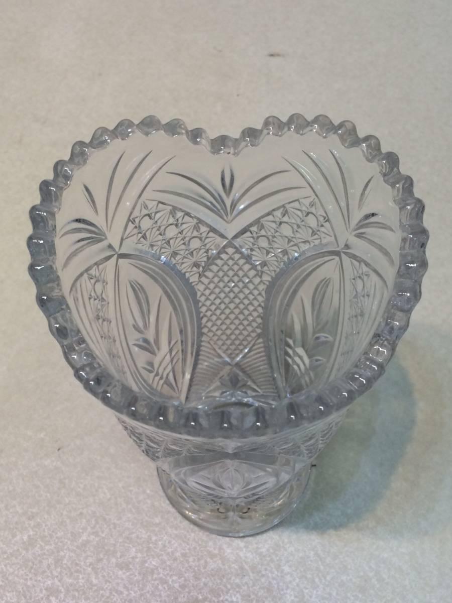 ●未使用 クリスタルガラス 花瓶 花器 フラワーベース 箱 管理:04_画像4