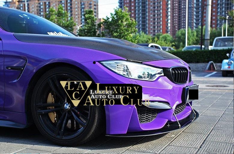 BMW F80 M3 F82 F83 M4 カーボンフロントスポイラー リップスポイラー エプロン デッキ リアルカ-ボン綾織り ボディ-パ-ツ _画像3