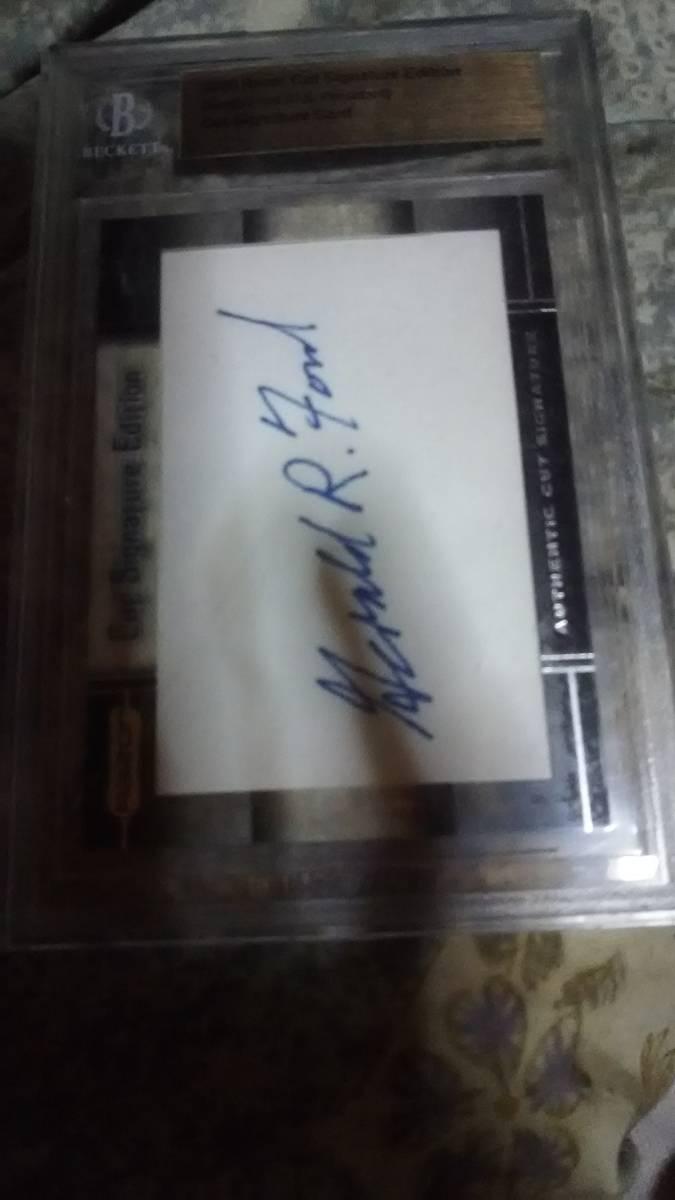 フォード元大統領 直筆サインカード