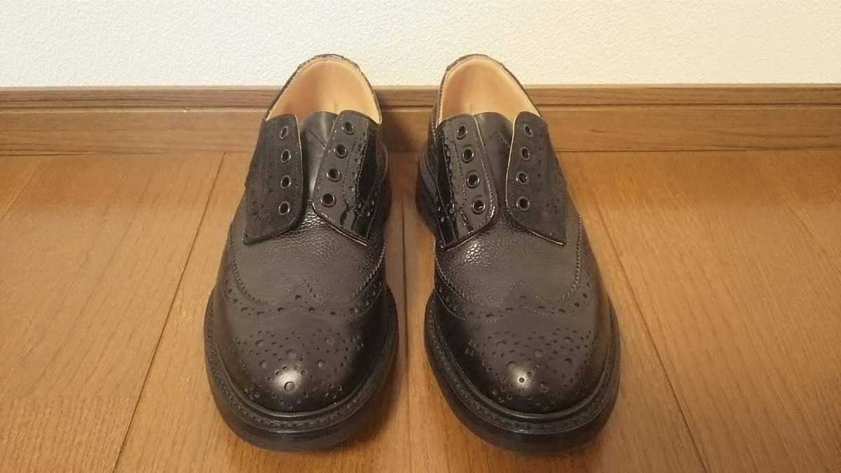 Nepenthes x Tricker's Engineered Garments  Multi-Tone Brogue - Men  Color:Blacks  Size:8  試着程度の未使用品 箱付き _画像1