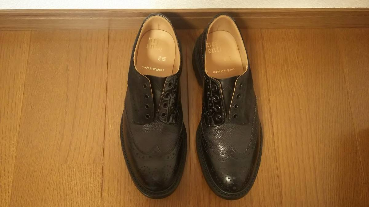 Nepenthes x Tricker's Engineered Garments  Multi-Tone Brogue - Men  Color:Blacks  Size:8  試着程度の未使用品 箱付き _画像3