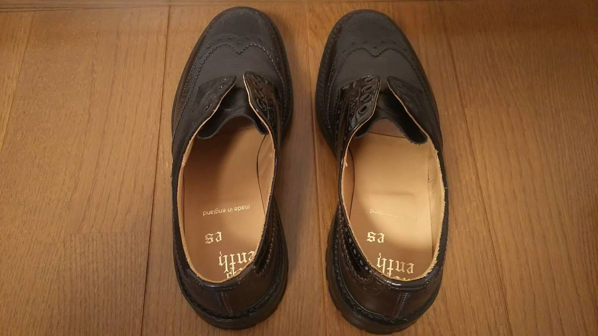 Nepenthes x Tricker's Engineered Garments  Multi-Tone Brogue - Men  Color:Blacks  Size:8  試着程度の未使用品 箱付き _画像5