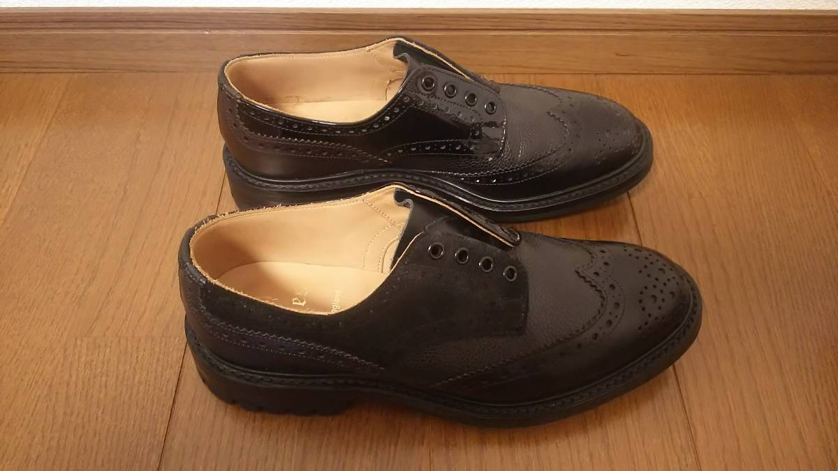 Nepenthes x Tricker's Engineered Garments  Multi-Tone Brogue - Men  Color:Blacks  Size:8  試着程度の未使用品 箱付き _画像7