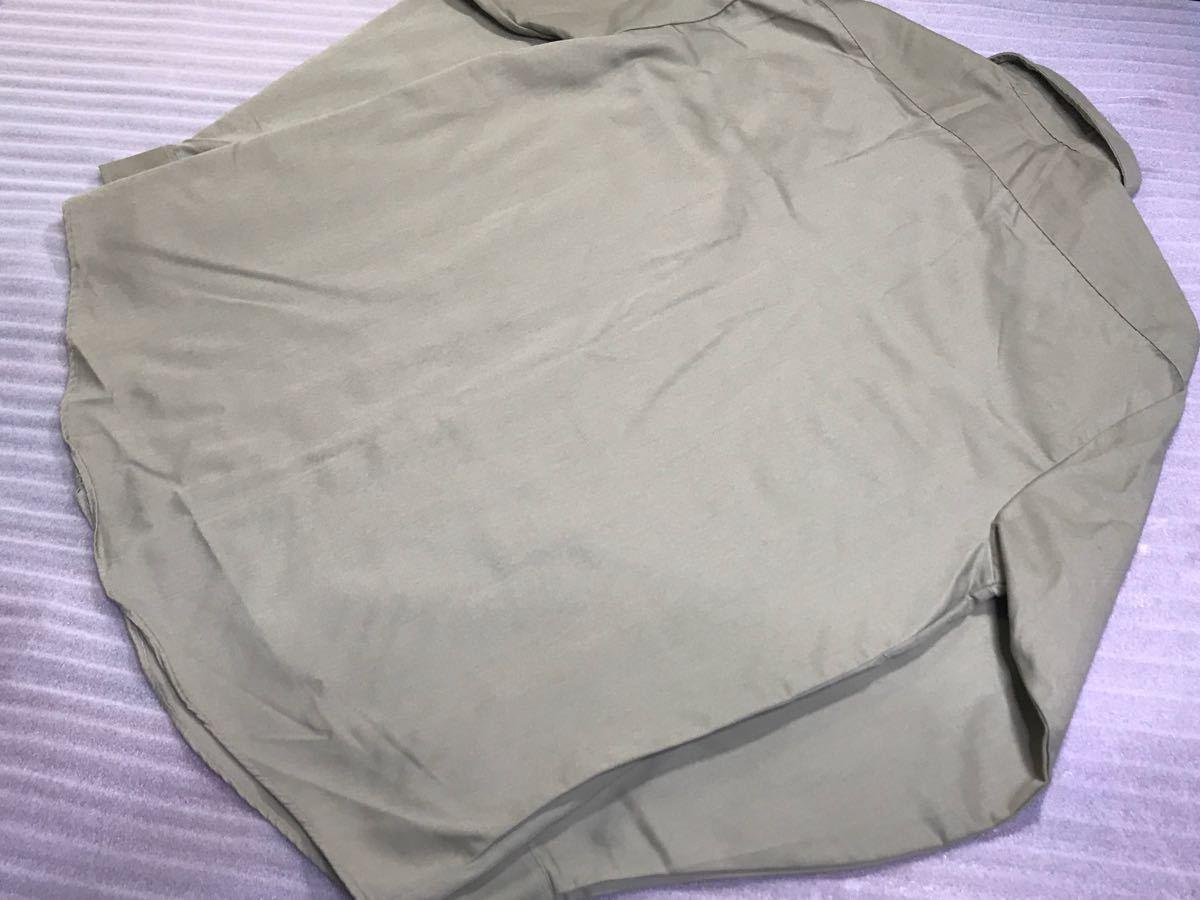 送料250円 超美品 USA製 OSHKOSH オシュコシュ カーキベージュ 長袖ワークシャツ 16 1/2 日本メンズ2L~3L位/大きいサイズ 1000円スタート_画像5
