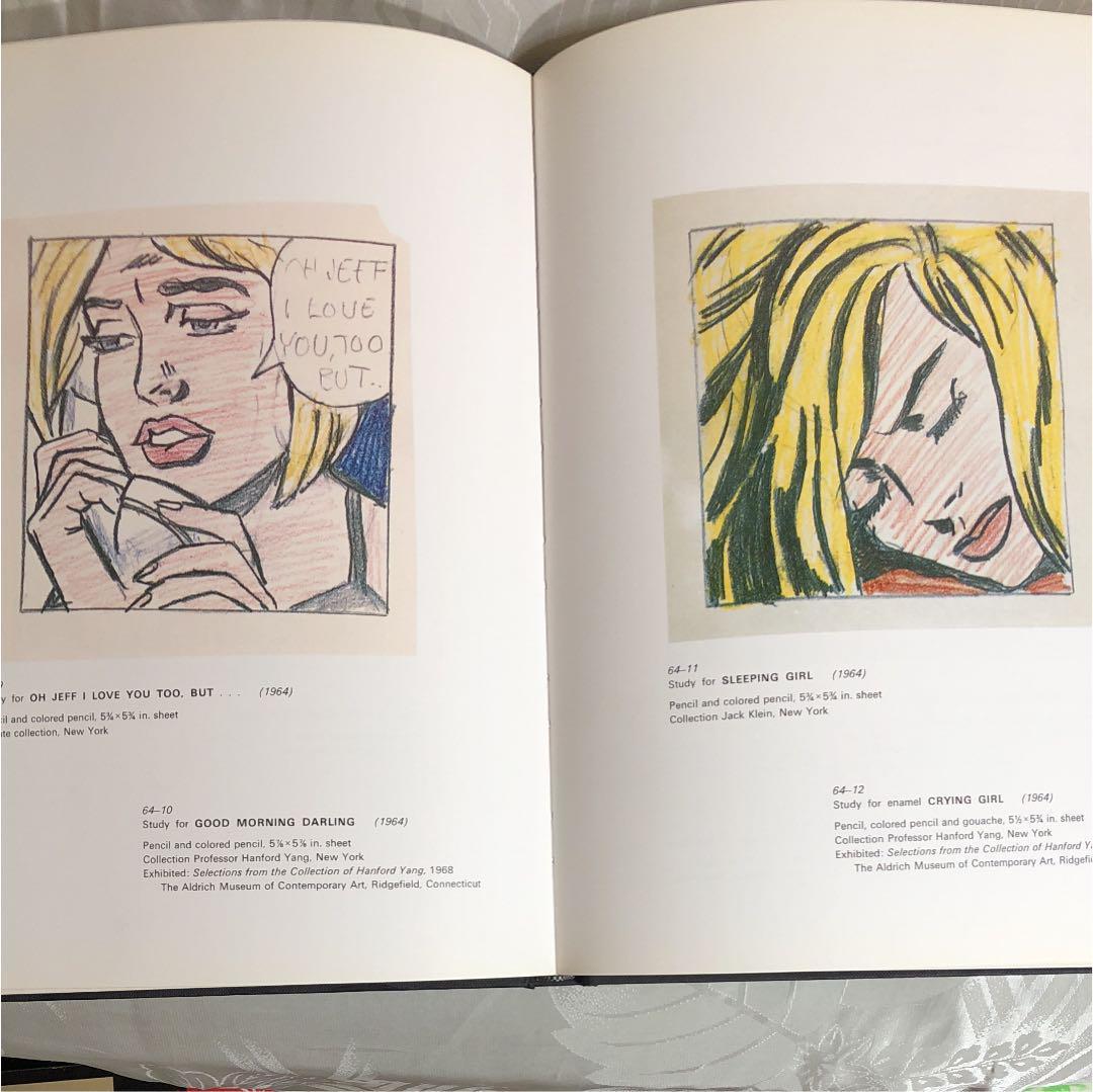 Roy Lichtenstein Drawings & Prints ロイ・リキテンステイン 画集 イラスト集 ポップアート デザイン アメコミ_画像4