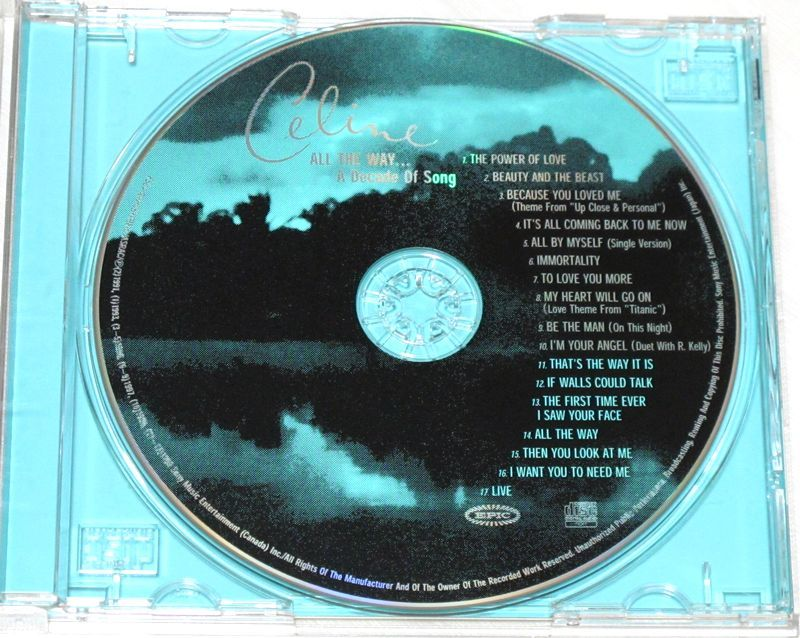 ◇ CD セリーヌ・ディオン Celine Dion ザ・ベリー・ベスト All The Way... A Decade Of Song 日本盤 帯付き ESCA 8070 新品同様 ◇_画像4