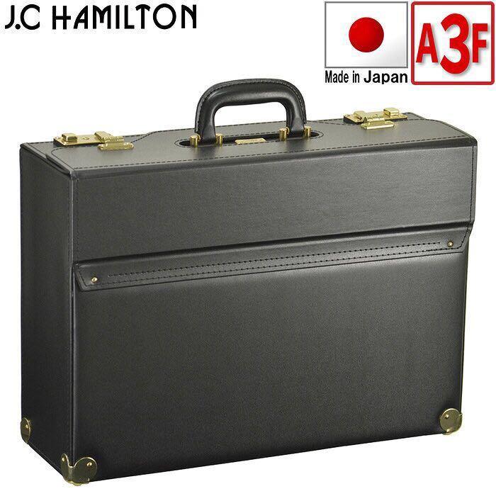 ☆ 価格交渉可能 最安値対応 日本製 ハミルトン フライトケース パイロットケース ビジネスバッグ ブリーフケース 送料無料 20038 ブラック_画像1