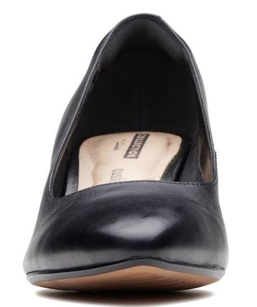 Clarks 25.5cm パンプス ロー キトゥン ヒール ブラック 黒 フォーマル レザー 革 アンクル バレエ ブーツ ブーティー バレエ AA59_画像7