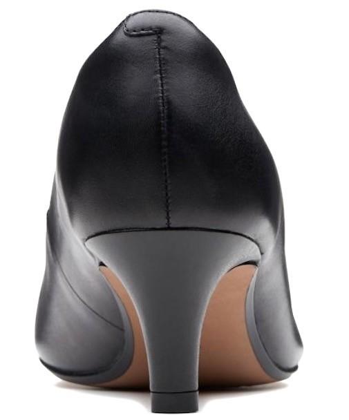 Clarks 25.5cm パンプス ロー キトゥン ヒール ブラック 黒 フォーマル レザー 革 アンクル バレエ ブーツ ブーティー バレエ AA59_画像3