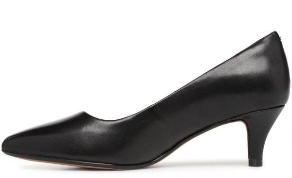 Clarks 25.5cm パンプス ロー キトゥン ヒール ブラック 黒 フォーマル レザー 革 アンクル バレエ ブーツ ブーティー バレエ AA59_画像2