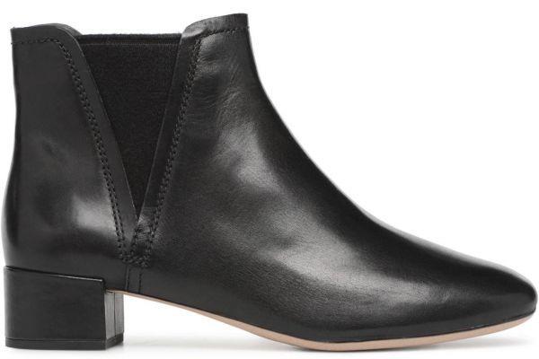 Clarks 22.5cm ブーツ ブラック 黒 サイドゴア レザー 革 チェルシー アンクル ブーティー パンプス フォーマル バレエ AA62_画像8