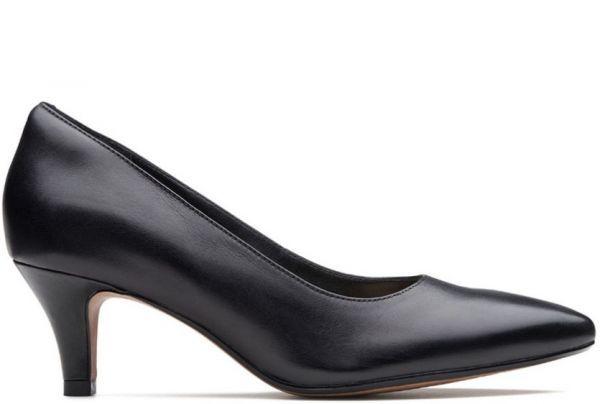 Clarks 25.5cm パンプス ロー キトゥン ヒール ブラック 黒 フォーマル レザー 革 アンクル バレエ ブーツ ブーティー バレエ AA59_画像8