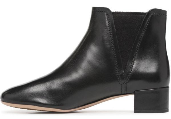 Clarks 22.5cm ブーツ ブラック 黒 サイドゴア レザー 革 チェルシー アンクル ブーティー パンプス フォーマル バレエ AA62_画像2
