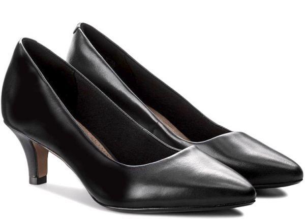 Clarks 25.5cm パンプス ロー キトゥン ヒール ブラック 黒 フォーマル レザー 革 アンクル バレエ ブーツ ブーティー バレエ AA59_画像9