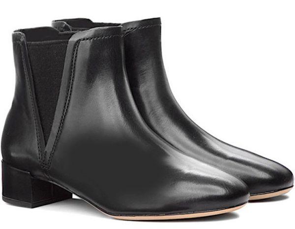 Clarks 22.5cm ブーツ ブラック 黒 サイドゴア レザー 革 チェルシー アンクル ブーティー パンプス フォーマル バレエ AA62_画像1