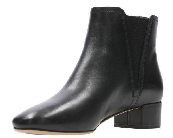 Clarks 22.5cm ブーツ ブラック 黒 サイドゴア レザー 革 チェルシー アンクル ブーティー パンプス フォーマル バレエ AA62_画像6