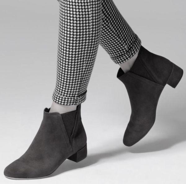 Clarks 22.5cm ブーツ ブラック 黒 サイドゴア レザー 革 チェルシー アンクル ブーティー パンプス フォーマル バレエ AA62_画像4