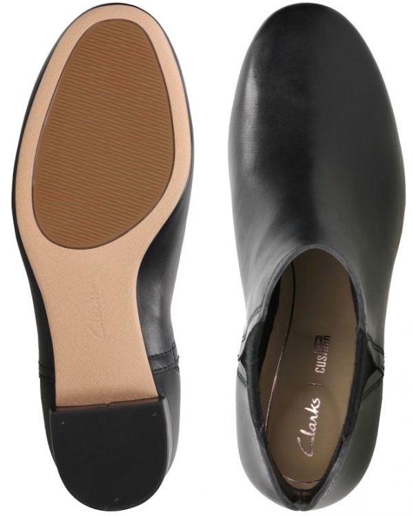 Clarks 22.5cm ブーツ ブラック 黒 サイドゴア レザー 革 チェルシー アンクル ブーティー パンプス フォーマル バレエ AA62_画像10