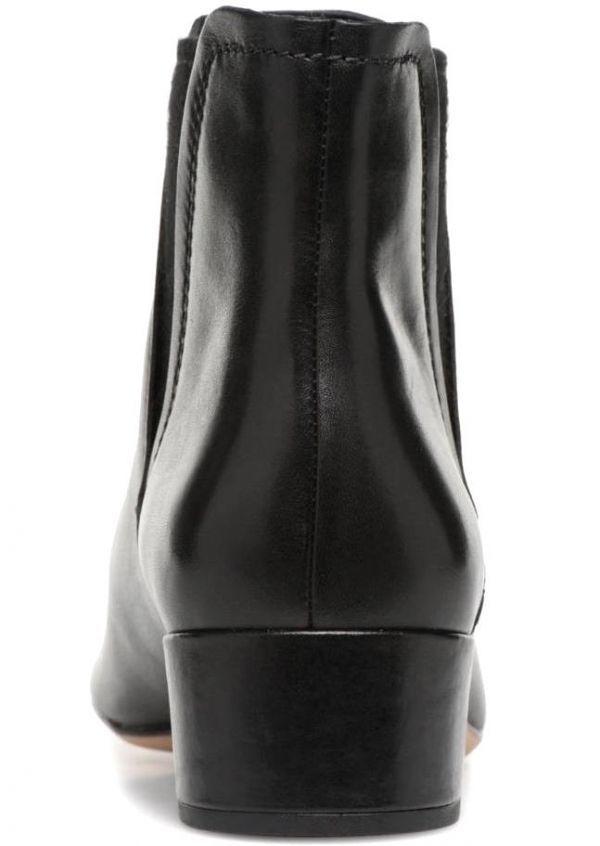 Clarks 22.5cm ブーツ ブラック 黒 サイドゴア レザー 革 チェルシー アンクル ブーティー パンプス フォーマル バレエ AA62_画像3