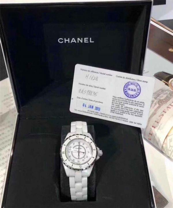 CHANEL J12 H1628 シャネルクロノグラフ ブラックセラミック腕時計 自動巻