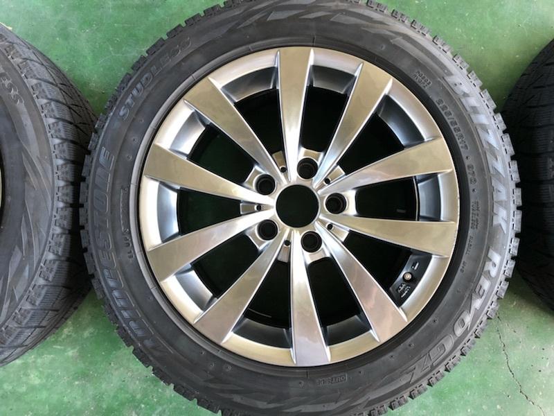 ブリヂストン レボGZ 17インチ 8J +30 5穴 PCD120 225/55R17 4本セット BMW 5シリーズ E60 E61 F10 F11 MOTEC モーテック スタッドレス_画像2