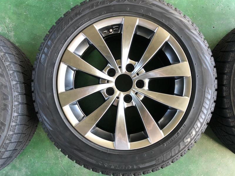 ブリヂストン レボGZ 17インチ 8J +30 5穴 PCD120 225/55R17 4本セット BMW 5シリーズ E60 E61 F10 F11 MOTEC モーテック スタッドレス_画像3