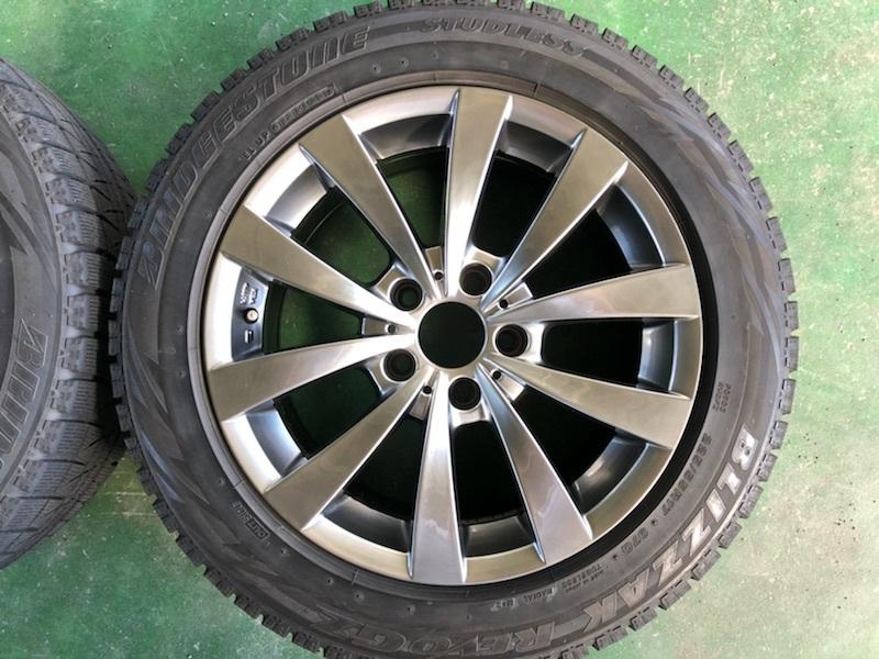 ブリヂストン レボGZ 17インチ 8J +30 5穴 PCD120 225/55R17 4本セット BMW 5シリーズ E60 E61 F10 F11 MOTEC モーテック スタッドレス_画像4