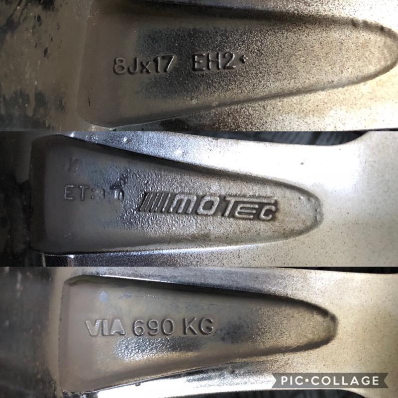 ブリヂストン レボGZ 17インチ 8J +30 5穴 PCD120 225/55R17 4本セット BMW 5シリーズ E60 E61 F10 F11 MOTEC モーテック スタッドレス_画像10