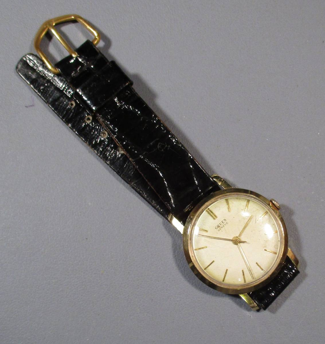 ☆ GRUEN. 金張ケース 紳士用腕時計 50年代拍卖