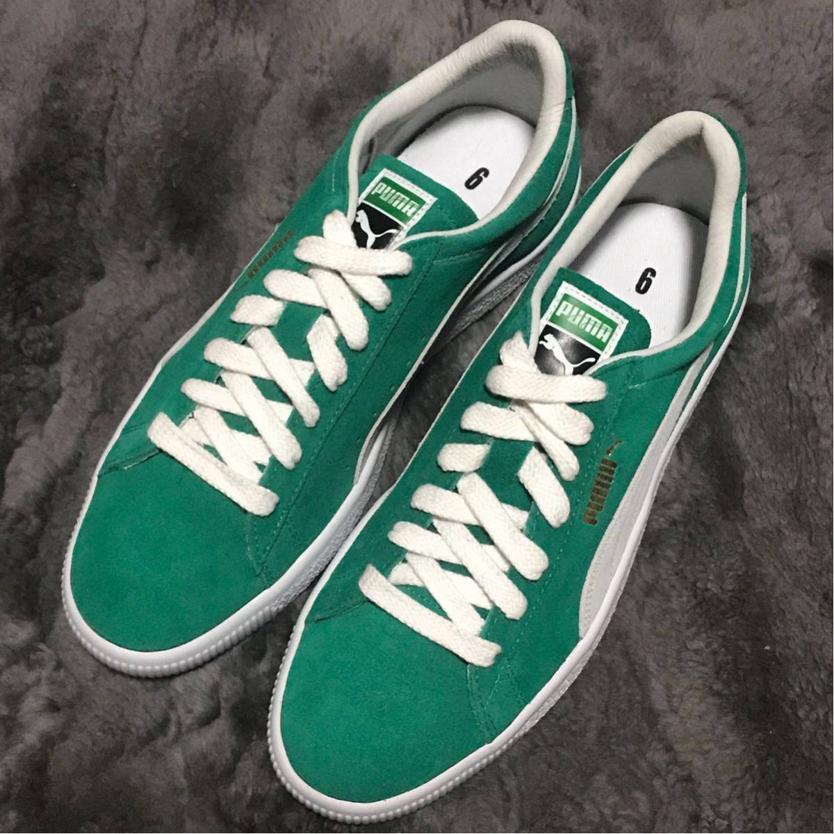 outlet store 1d58a 2189d new goods unused 28cm puma suede 90681 kelly green Puma ...