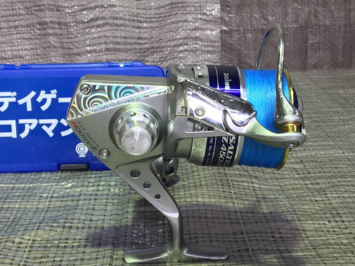 良好 ダイワ Daiwa ソルティガZ 4500H PEライン付き と おまけ付き_画像2