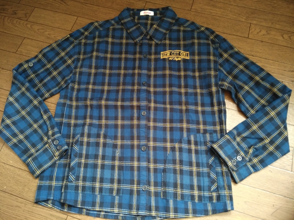 INGNIfirst online fast gingham check long-sleeved shirt XL150
