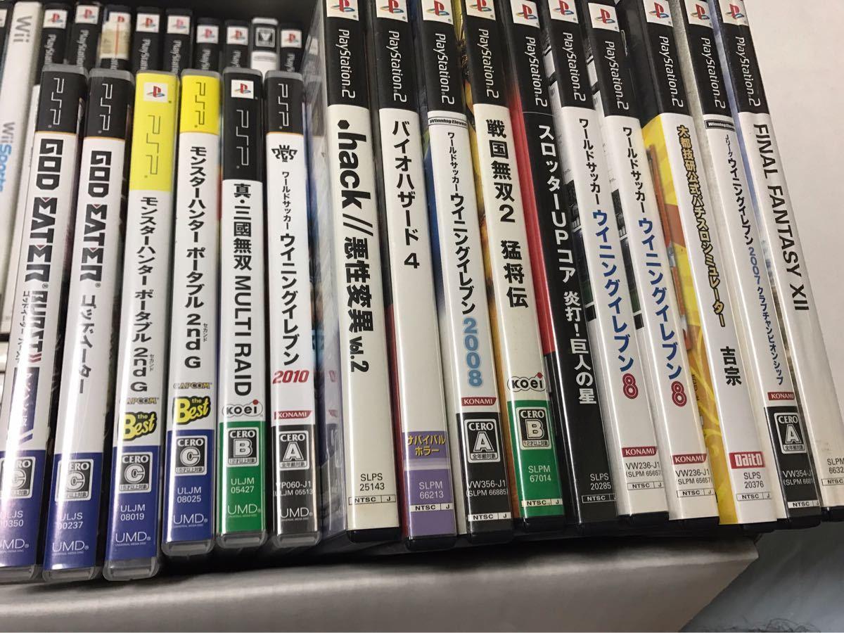 PSP、PS3.PS2、ドリームキャストなどソフト大量まとめ売り!FF、ゴッドイーター、ウイイレなどあり!動作未確認ジャンク品_画像2