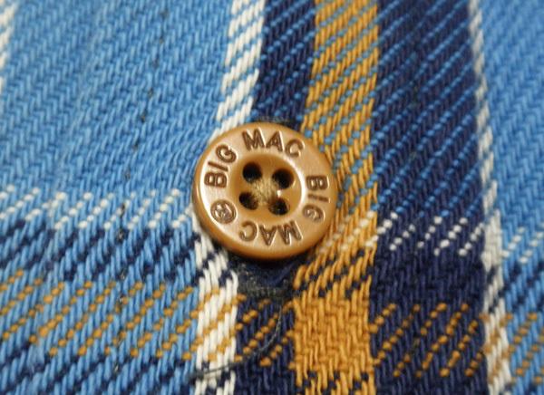 L【90's/BIGMAC・ネルシャツ】ビッグマック ヘビーネル ヴィンテージ ワークシャツ 90年代 チェックシャツ 米国製 USA製 古着_画像5