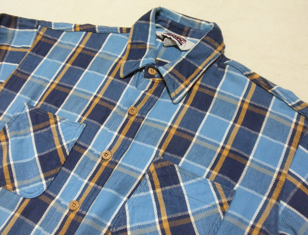 L【90's/BIGMAC・ネルシャツ】ビッグマック ヘビーネル ヴィンテージ ワークシャツ 90年代 チェックシャツ 米国製 USA製 古着_画像2