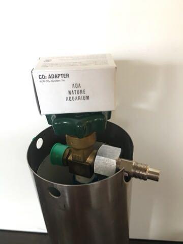 ADA タワー 旧ロゴ CO2 ボンベ ミドボン レギュレータ WPW CO2 アドバンス おまけ チューブ 等 付き レンチ無し 次回要耐圧検査_画像5