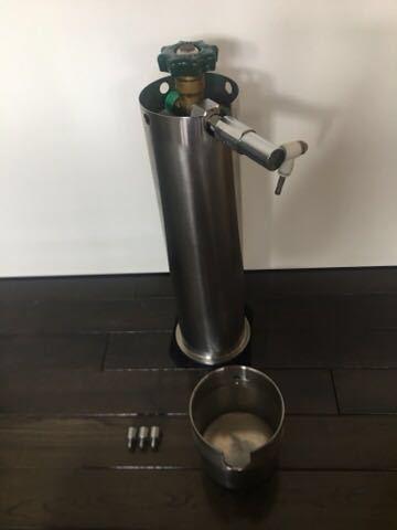 ADA タワー 旧ロゴ CO2 ボンベ ミドボン レギュレータ WPW CO2 アドバンス おまけ チューブ 等 付き レンチ無し 次回要耐圧検査_画像4