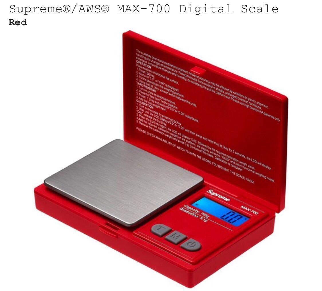 1円スタート 新品 正規品 18AW Supreme AWS MAX-700 Digital Scale シュプリーム デジタルスケール 計り