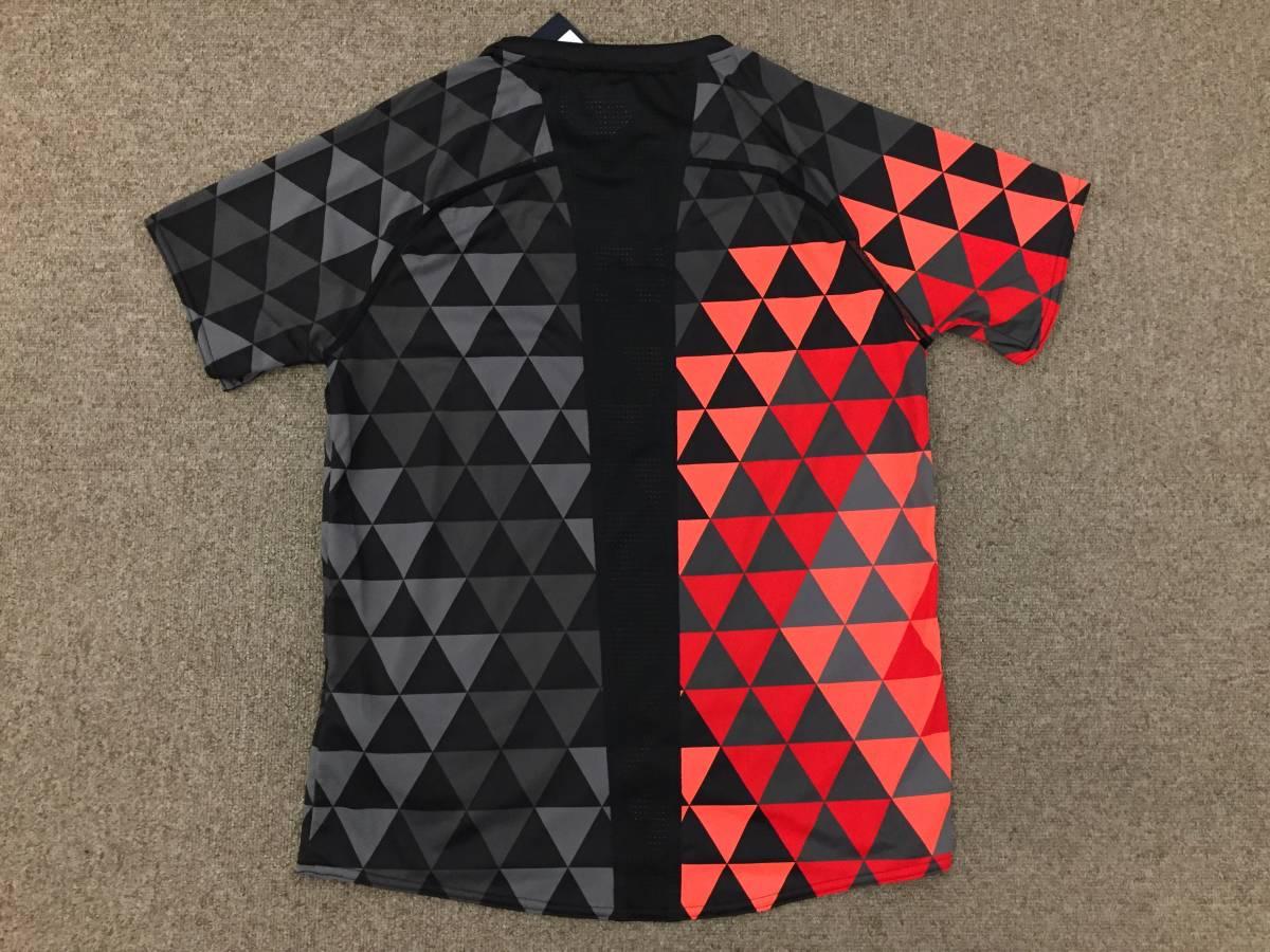 2017 世界陸上ロンドン 陸上競技 日本代表 JAAFオフィシャル×asicsアシックス オーセンティックTシャツ ブラック×サンライズレッド格子 S_画像5