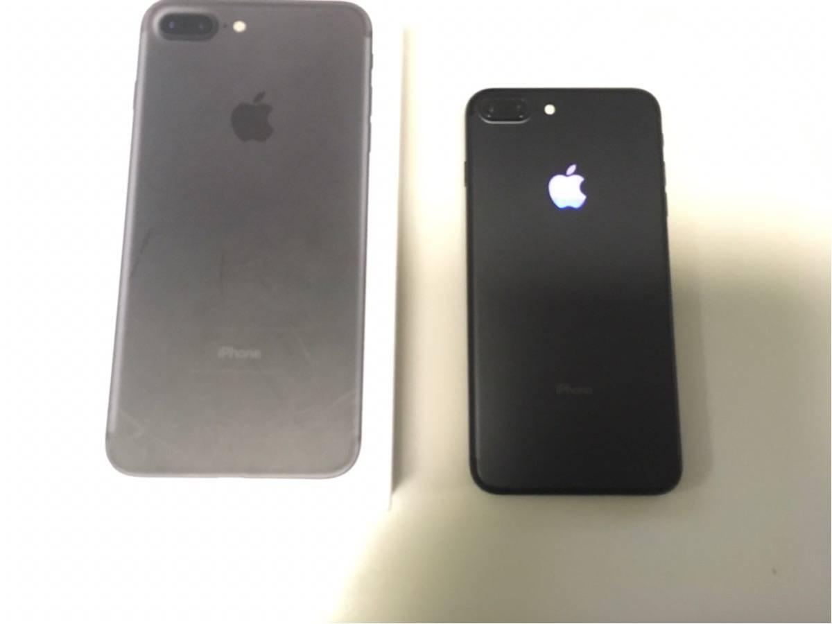 6c6832b307 iPhone7 Plus Jet Black 256GB simフリー ジェット ブラック カスタムLED