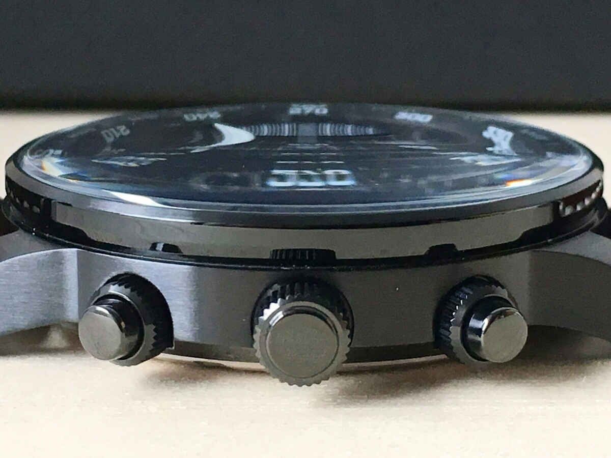 新品 CITIZEN シチズン エコ・ドライブ パイロット 100m レザー CA0695-17E クロノグラフ Pilot's 黒 Eco-Drive_画像5