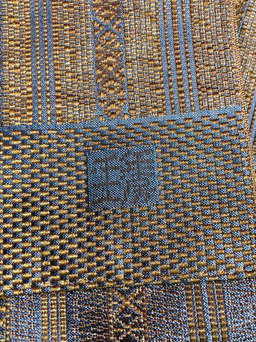 助六0014 博多織 岡野謹製 千年工房 玉虫献上全通八寸名古屋帯_画像7