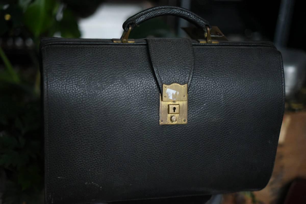 101342 ヴィンテージ バッグ ブリーフケース トランクケース 革鞄 カバン アンティーク ビンテージ 英国 スーツケース_画像1