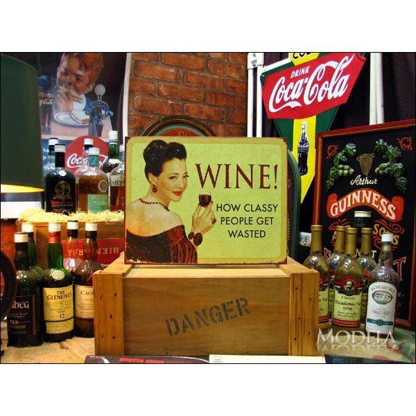 アメリカンブリキ看板 ワイン/Wine 身分の高い人々【1719】sign_alcohol_サイズ:長辺41cm×短辺32cm(約)