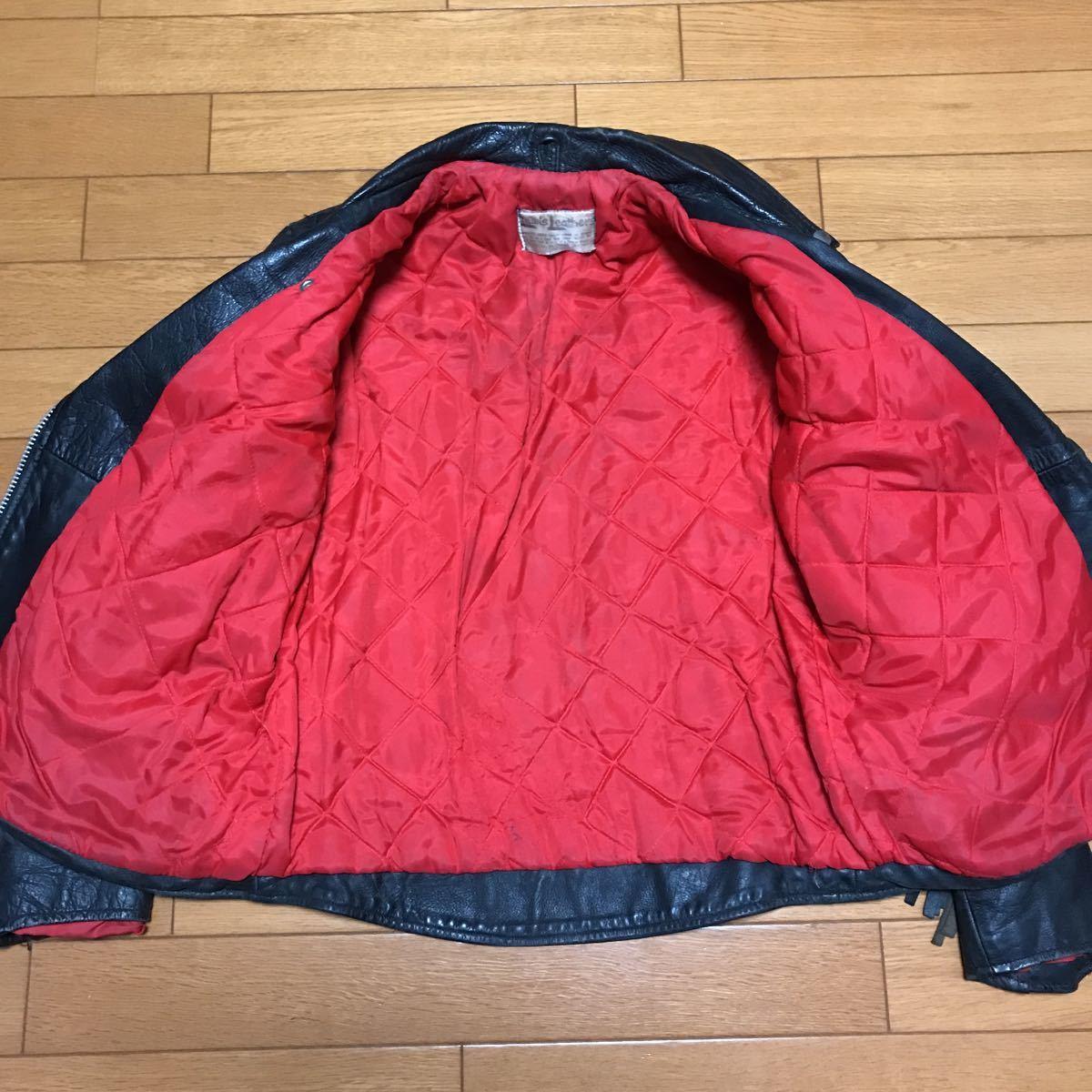 ヴィンテージ ルイスレザー スターライトニング フリンジ付き イングランド製 イギリス ライダースジャケット_画像6