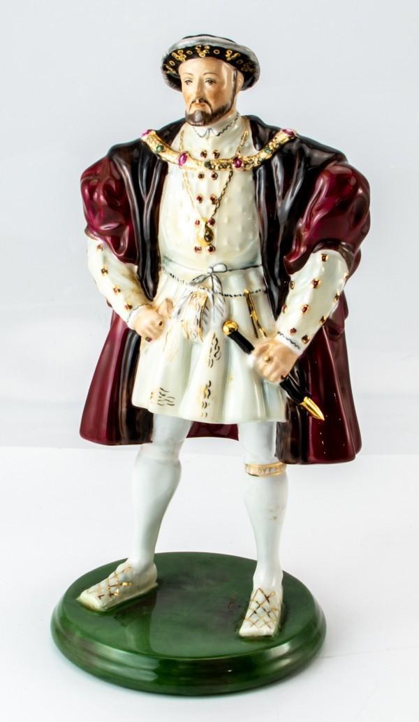 COALPORT コールポート 英国製 ロイヤルコレクション ヘンリー8世 人形 陶器 高さ24cm