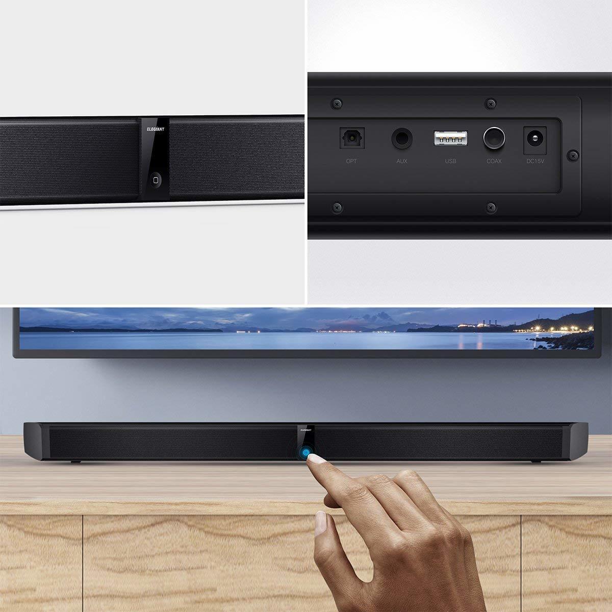 サウンドバー スピーカー ホームシアターシステム ワイヤレス フロントサラウンドシステム Bluetooth 高音質 重低音30W テレビ PC USB _画像5